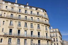 Building in the port of Marseilles, France Royalty Free Stock Photos