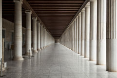 Building with portico. Beautiful antique building with portico Stock Photo