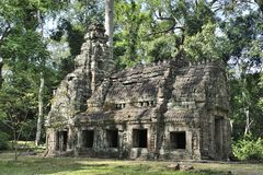 Building of Preah Khan. In Cambodia's jungle Royalty Free Stock Image