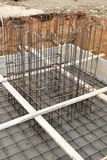 Building prepare for concreting. A big hole of pole in construction site building prepare for concreting Royalty Free Stock Photos