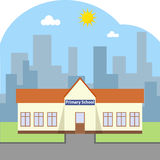 The building of primary school. Flat design, vector illustration, vector Royalty Free Stock Images