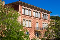 Building on primary school located in the territory of Park Güell Barcelona royalty free stock photography