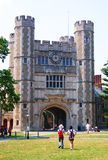 A building in princeton university. Students are passing by a building in princeton university Royalty Free Stock Photos