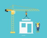 Building Process Flow. Building process. Success engineer. Building process flow, construction process, engineering technology, construction building, business stock illustration