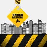 building process hang crane sign under construction Royalty Free Stock Image