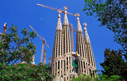 Building process of Sagrada Familia. Stock Photography