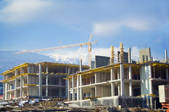 BUILDING IN PROGRESS Royalty Free Stock Image