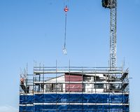 Building progress 113. At 47 Beane St. Gosford. August 2018. Gosford, New South Wales, Australia - August 3. 2018: Construction site and building progress stock images