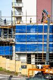 Building progress 89. 47 Beane St. Gosford. June 2018. Gosford, New South Wales, Australia - June 13. 2018: Construction and building progress update 89 royalty free stock image