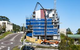 Building progress 107. At 47 Beane St. Gosford. MNTH 2018. Gosford, New South Wales, Australia - July 7. 2018: Construction and building progress update 107 royalty free stock images