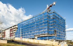 Building progress 134. At 47 Beane St. Gosford. September 2018. Gosford, New South Wales, Australia - September 7. 2018: Construction site and building progress royalty free stock image