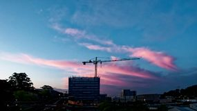 Building progress 143e. At 47 Beane St. Gosford. October 2018. Gosford, New South Wales, Australia - October 20. 2018: Construction and building progress update royalty free stock images