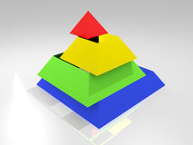 Building project royalty free illustration