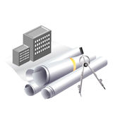 Building project clip art. Engineering and architecture concept for building a new project Stock Image