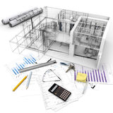 Building project process Royalty Free Stock Image