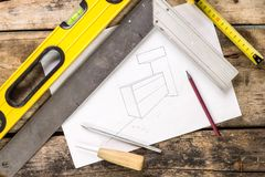 Building and project tools background. Stock Image
