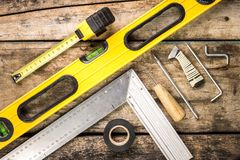 Building and project tools background. Royalty Free Stock Photography