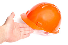 Building protective helmet Stock Images