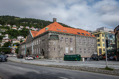 The building of the public library of Bergen Stock Image