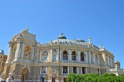 Building of public opera and ballet theater in Odessa Stock Photo