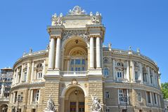 Building of public opera and ballet theater in Odessa Stock Photography