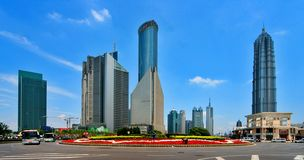 Building of Pudong. Pudong is new Shanghai today.There are many modern building in Pudong Stock Images