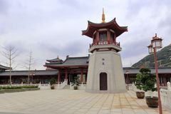Bell and drum tower of putuoshan buddha college, adobe rgb Royalty Free Stock Photography