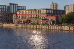 Building on the quay of river Royalty Free Stock Image