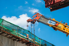 Building Railway SkyTrain Construction Site Royalty Free Stock Image