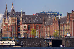 The building of railway station in Amsterdam Stock Photography