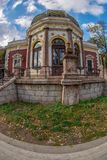 Building of the railway station Baile Herculane, Romania Stock Photography