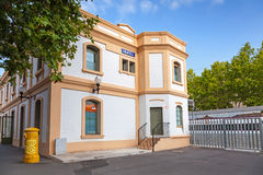 Building of the railway station in Calafell Royalty Free Stock Photography