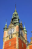 Building of Railway station in Gdansk Stock Image