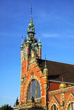 Building of Railway station in Gdansk Stock Photography