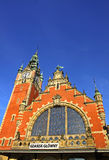 Building of Railway station in Gdansk Royalty Free Stock Image