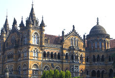 Building of the railway station in Mumbai Victoria Terminus Royalty Free Stock Photo