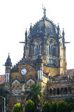 Building of the railway station in Mumbai Victoria Terminus Royalty Free Stock Images