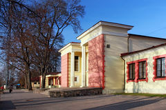 Building of railway station in the popular health resort of Ogre. In central Latvia Royalty Free Stock Images