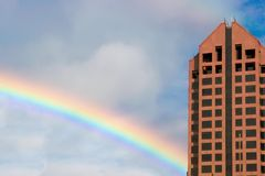 Building Rainbow Stock Image