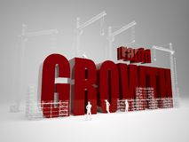 Building rapid growth. High quality 3d render. Building rapid growth royalty free stock image