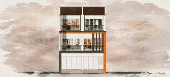 Building 3rd Floor Stock Image