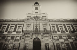 Building Real Casa de Correos in Madrid, Spain. Stock Photography
