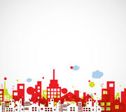 Building and real estate city illustration. Abstract background. For business presentation, sale, rent Stock Images