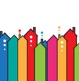 Building and real estate city illustration. Abstract background. For business presentation, sale, rent Royalty Free Stock Photos