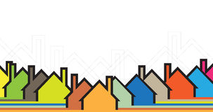 Building and real estate city illustration. Abstract background. For business presentation, sale, rent Royalty Free Stock Photo