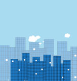 Building and real estate city illustration. Abstract background Royalty Free Stock Photography
