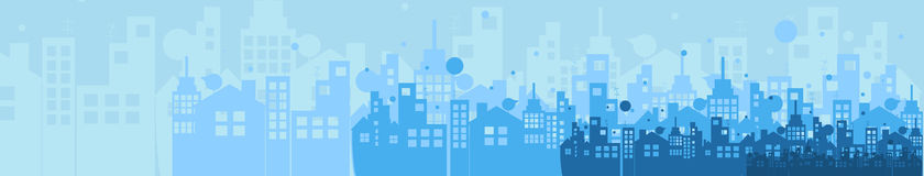 Building and real estate city illustration. Abstract background Stock Image