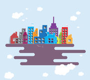 Building and real estate city illustration. Abstract background Stock Images