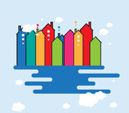 Building and real estate city illustration. Abstract background Royalty Free Stock Image