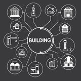 Building and real estate icons, infographic Stock Photography